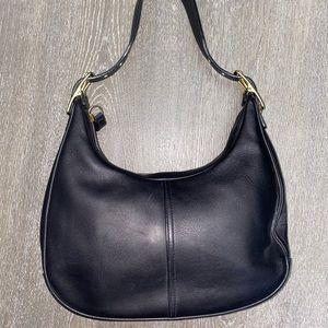 Coach Vintage Zoe Legacy Black Shoulder Bag